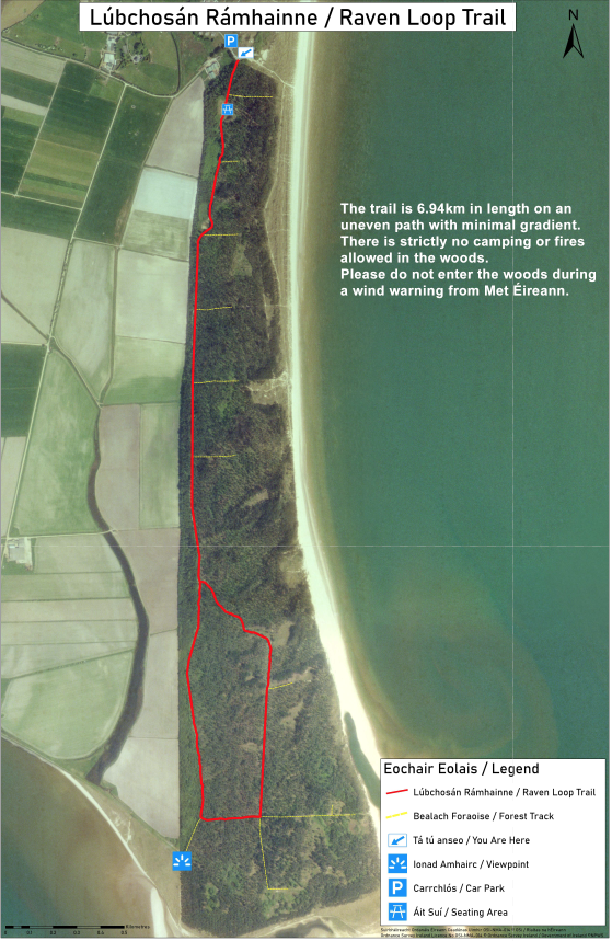 Raven Loop Trail map