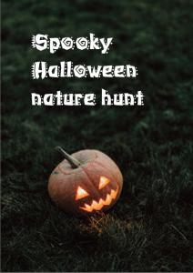 Spooky Halloween Nature Hunt